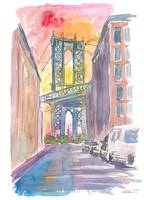 Very Special View To Manhattan Bridge New York at
