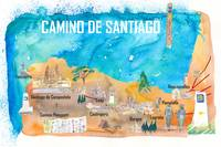 Camino Santiago St Jacques James Travel Poster Fav