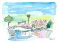 Venice Beach California Tropical Canal Scene