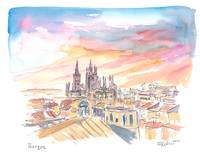 Burgos Spain Historical City Center and Cathedral