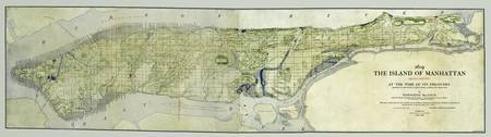 Manhattan at the time of Discovery 1609 map