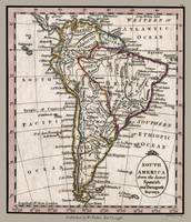 South America Antique 1798 Map