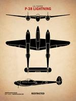 WW2 P-38 Lightning Identification Chart