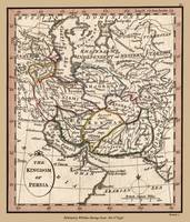 Persia Old Antique Map 1798