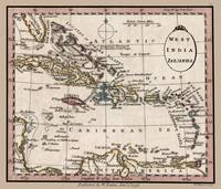 West India Islands Map 1798
