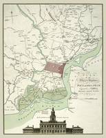 Philadelphia 1777 Map with Independence Hall and N