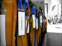 Rememberance ribbons NYC