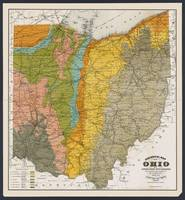 Ohio Geological Antique Map 1888
