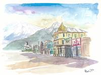 Skagway Alaska USA Street Scene Excursion