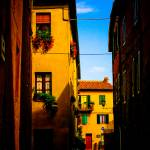 """Side street, Pienza, Tuscany, September 2006"" by Conlawprof"