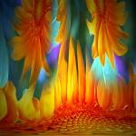 """Sunflowers Afire"" by NatureBoyPhotos"