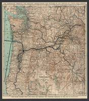 Oregon Railroad Map 1898