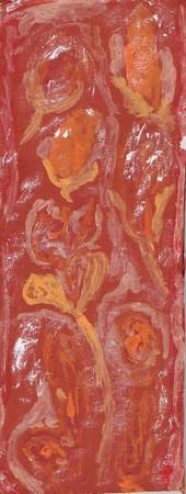 Abstract Expressionist Floral in Red and Orange