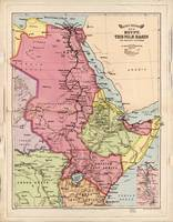 The Nile Basin, Egypt Map (1916)
