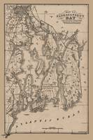 Narragansett Bay Rhode Island Map 1879