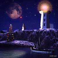 Christmas Eve Night in Peggy's Cove