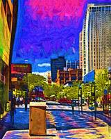 Denver 16th Street Mall In Fauvism