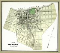 Oswego City of Map 1867