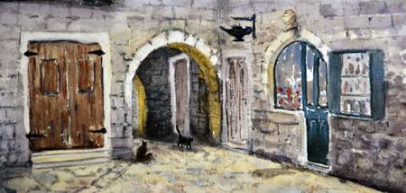 Montenegro #20 Cats of Kotor old town 17x36 cm 201