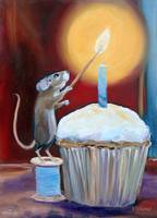 Lighting the Candle- a Birthday Mouse by Violano
