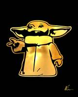 Grogu | Baby Yoda | Gold Series | Pop Art