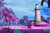 Lighthouse Cartagena Colombia - Infrared - Purple