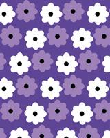 Purple and White Flower Pattern