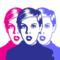 Triple Twiggy | Pop Art