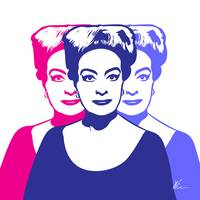 Triple Joan Crawford | Pop Art