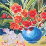 """Fantasy on a Blue Vase"" by YaelEylatTanaka"