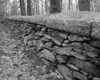 New England Cemetery Stone Wall