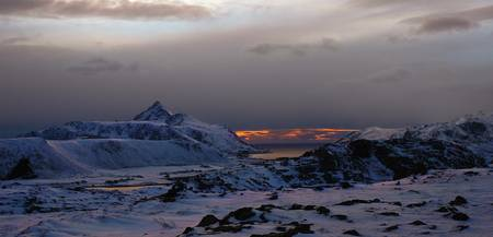 Winterscape from Lofoten