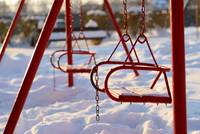 Swings and snow