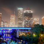 """Houston Skyline fr Bayou Post #01 11 x 17"" by Willboy22"
