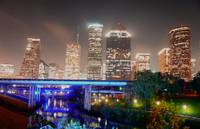 Houston Skyline fr Bayou Post #01 11 x 17