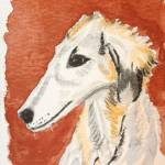 """Borzoi"" by debsrandomart"