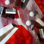 """white runaway dots,oil,mm on canvas,76x100cm,2006"" by Evgueniamen"