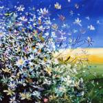 """Wild Daisies - Floral Painting By M. Zampedroni"" by zampedroni"