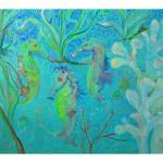 """""""Three Sea Horses"""" by Delilah"""