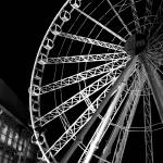 """balck and white wheel"" by lightnin"