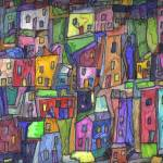 """Painted Houses"" by maeve"