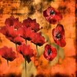 """Rustic Poppies Oil Painting"" by allysonricketts"