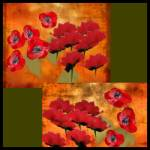 """Abstract Oil Poppies"" by allysonricketts"