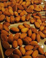 Almonds on a Roasting Tray