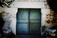 Blue Village Door