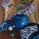 """Vase of Hydrangeas: Polish Pottery XXVI"" by 88heather"