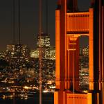 """Golden Gate Bridge & San Francisco at night"" by canbalci"