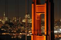 Golden Gate Bridge & San Francisco at night