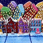 """""""City In Winter"""" by reniebritenbucher"""