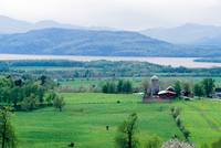Ferrisberg Farm and Lake Champlain
